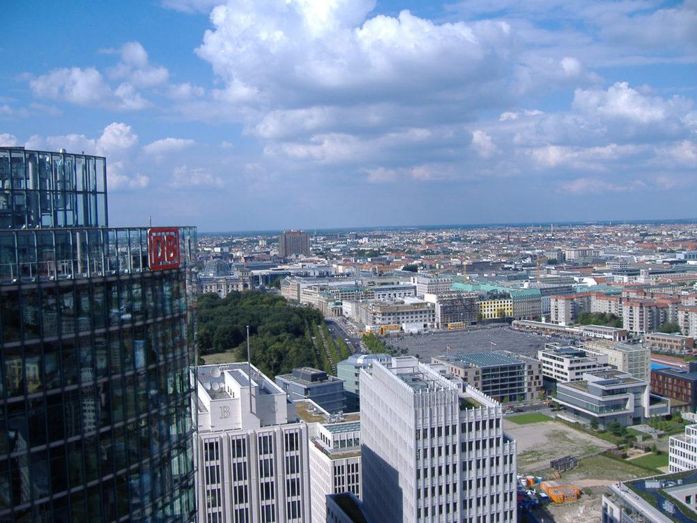 Berlino e il Panorama Punkt a Potsdamer Platz