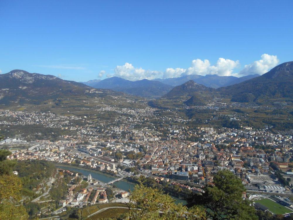 Trento e il panorama da Sardagna
