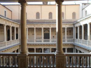 Il cortile di Palazzo Bo'