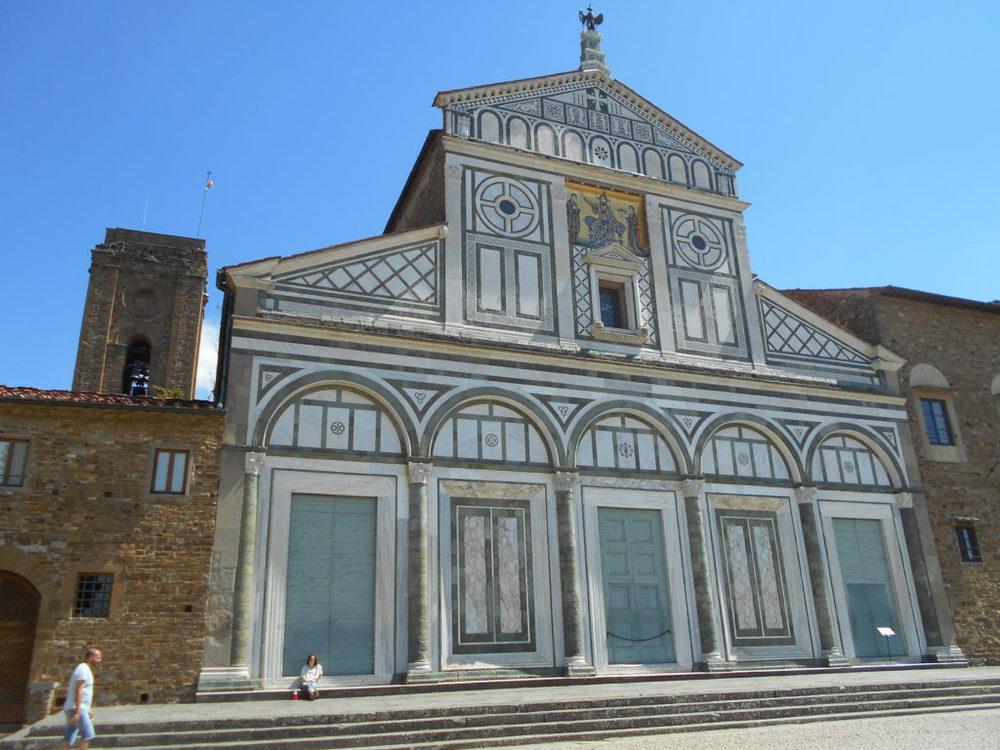 La facciata della chiesa di San Miniato al Monte