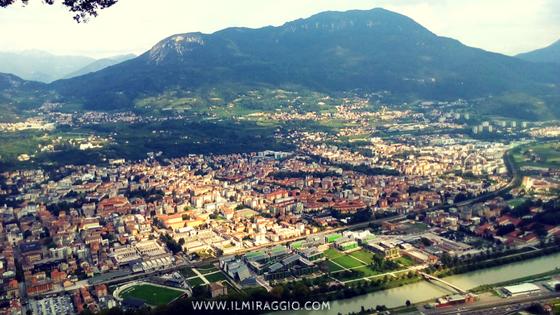 Trento vista dalla terrazza panoramica Parchi giardini Trento