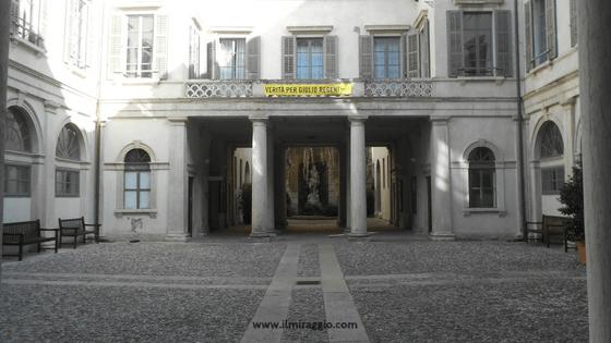 Cortile interno di Palazzo Thun
