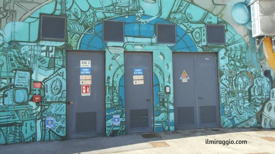 Street Art sotto il cavalcavia Borgomagno