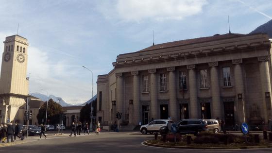 Stazione dei treni a Bolzano