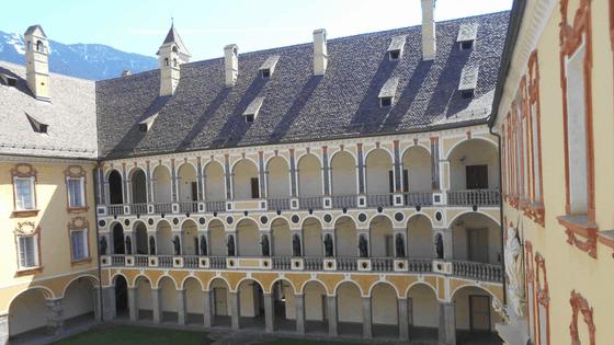 Il cortile del Palazzo Vescovile