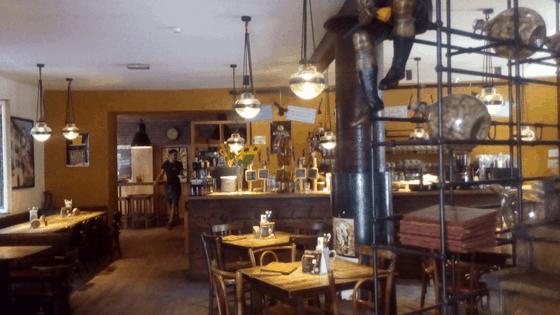 Una sala dell'osteria Ca' Bezzi