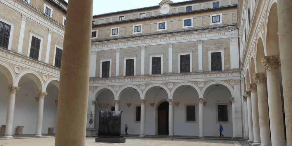 Il cortile del Palazzo Ducale