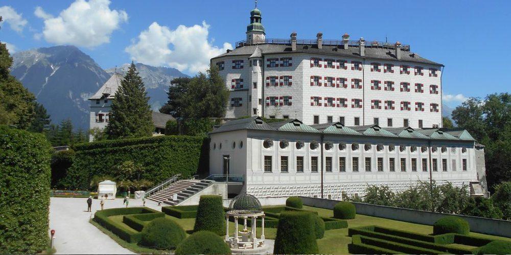 Castello Ambras e una parte del giardino