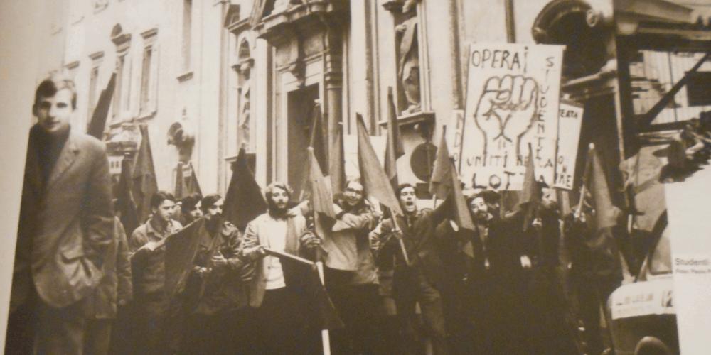 I luoghi del '68 a Trento corteo