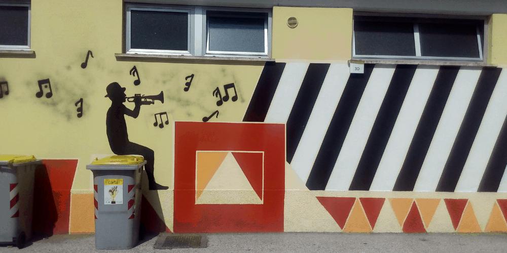 Street Art a Trento Scuole Breadola