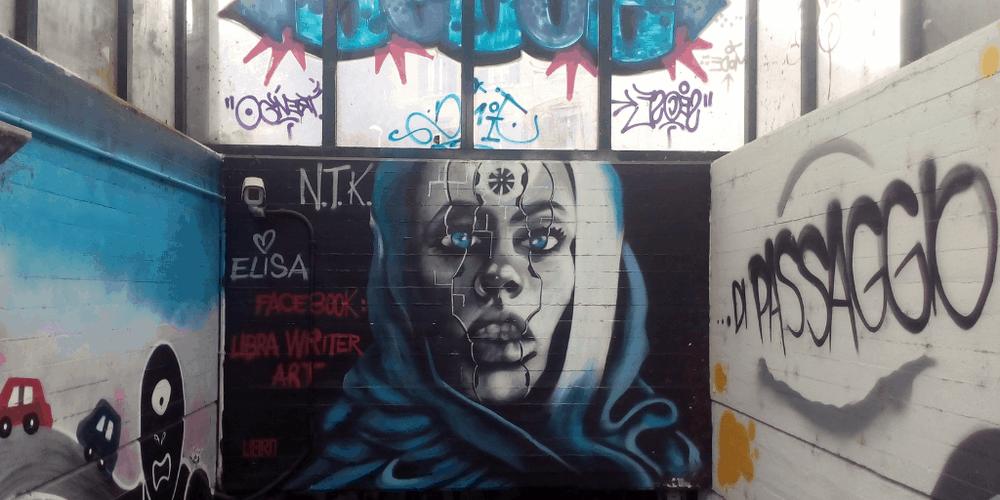 street art a trento via canestrini