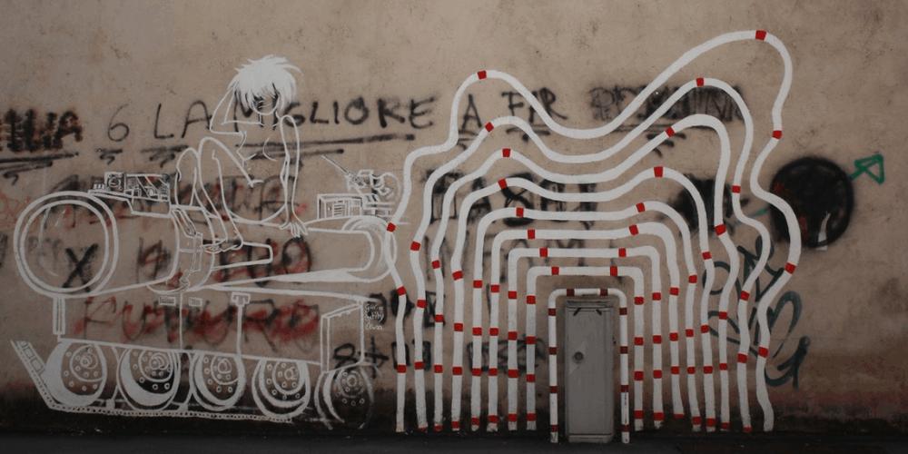 street art a trento via madruzzo