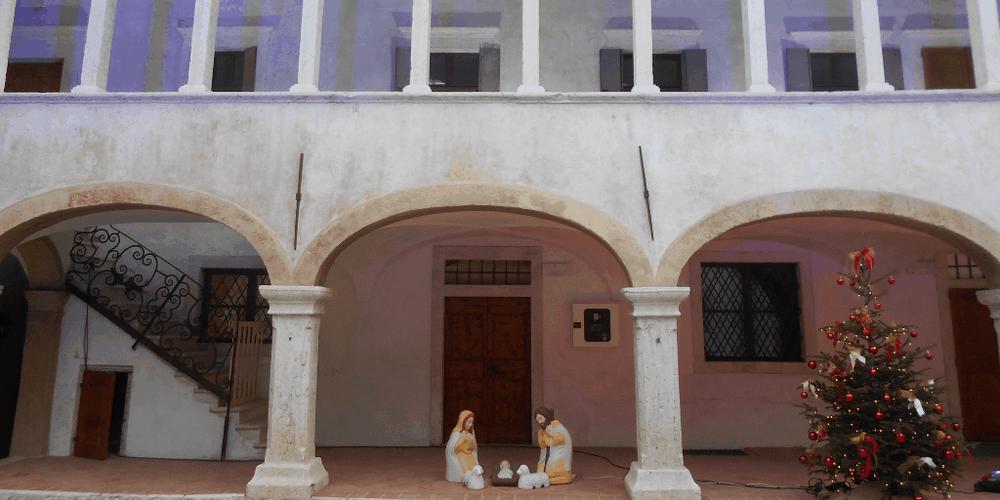 Il cortile interno di Palazzo Taddei