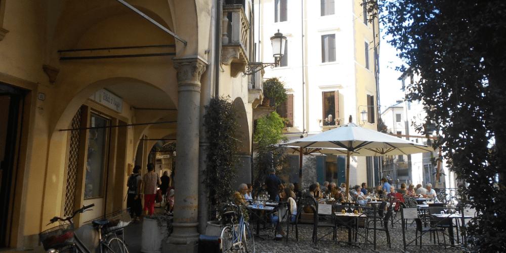 La piazza nel Ghetto di Padova
