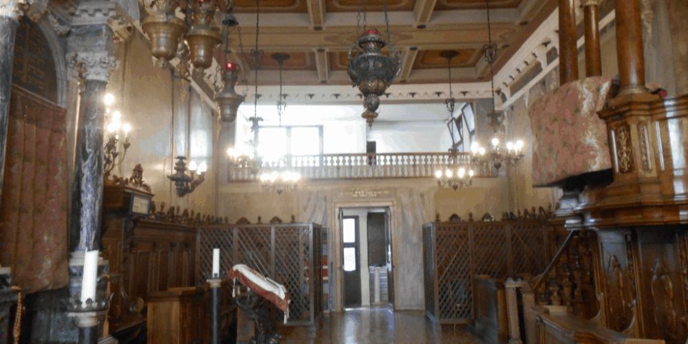 L'interno della Sinagoga Italiana