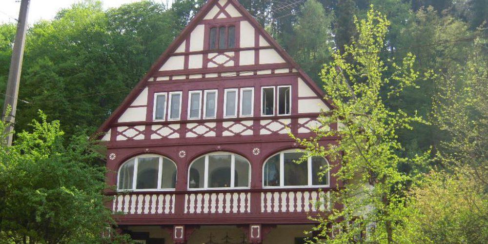 Una casa tipica nel verde a Günterstal