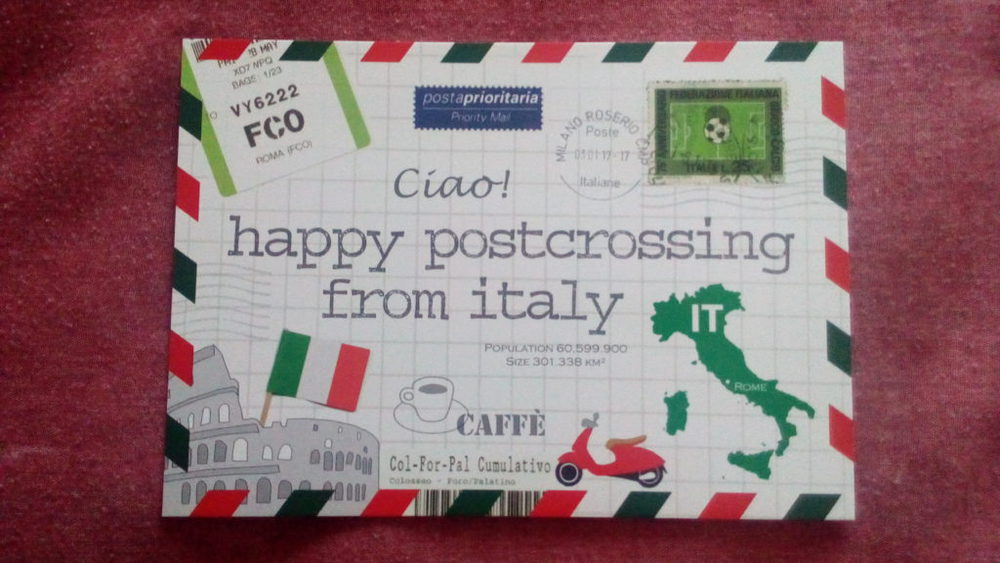 happy postcrossing from italy