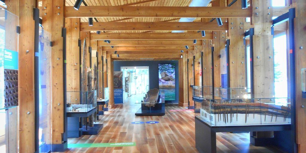 Interno del museo delle palafitte del lago di ledro