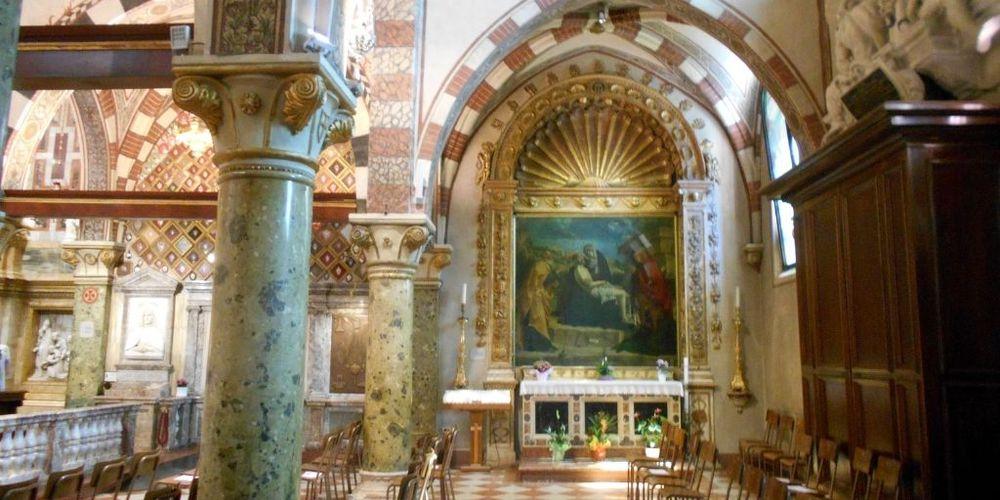 Uno scorcio dell'interno della Basilicia di Monte Berico a Vicenza