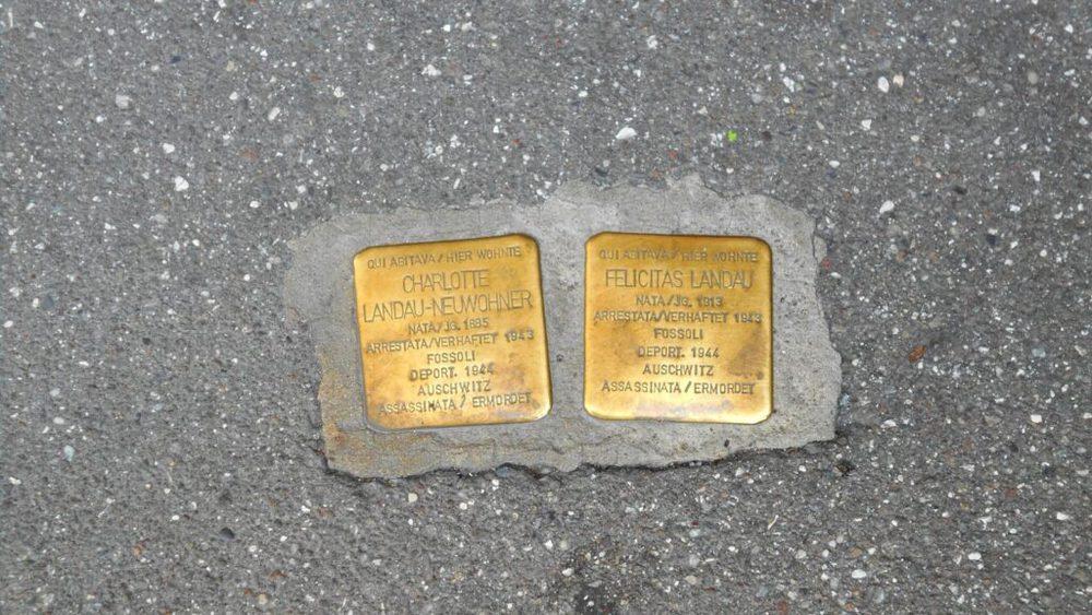 Alcune pietre d'inciampo che si trovano a Bolzano
