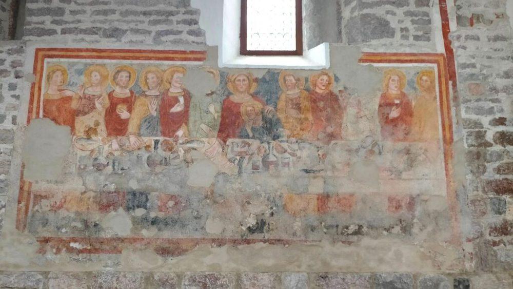 affrechi chiesa san vigilio molveno